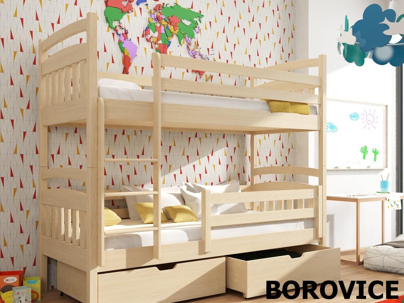 Smartshop Patrová postel GABI 90x200 cm, masiv borovice/barva:..