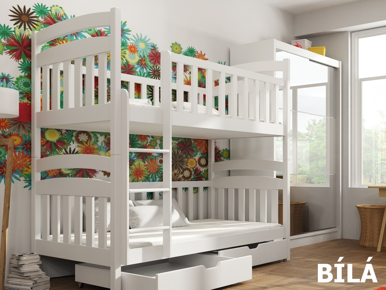 Smartshop Patrová postel MICHAS 90x200 cm, masiv borovice/barva:..