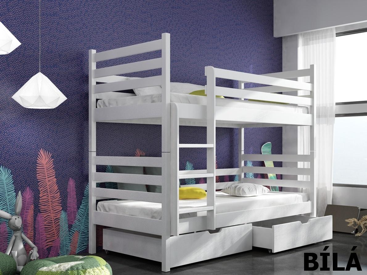 Smartshop Patrová postel NEMO 90x200 cm, masiv borovice/barva:..