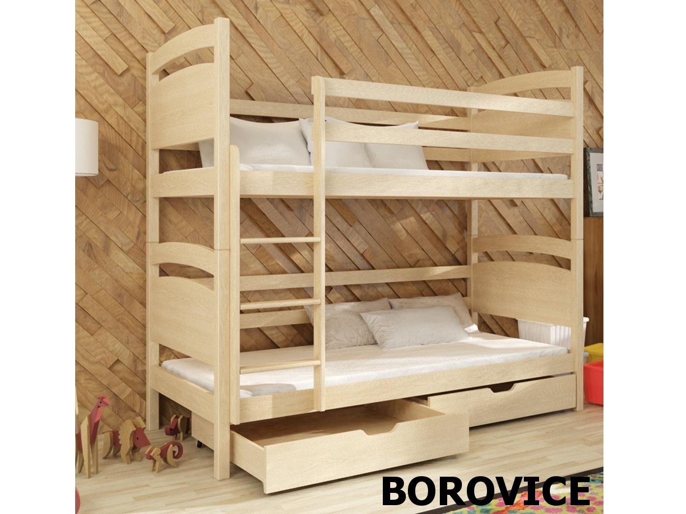 Smartshop Patrová postel NIKUS 90x200 cm, masiv borovice/barva:..