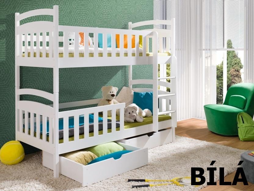 Smartshop Patrová postel SEBUS 90x200 cm, masiv borovice/barva:..