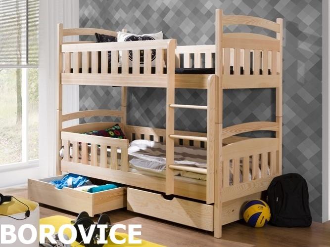 Smartshop Patrová postel ANTOS 90x200 cm, masiv borovice/barva:..
