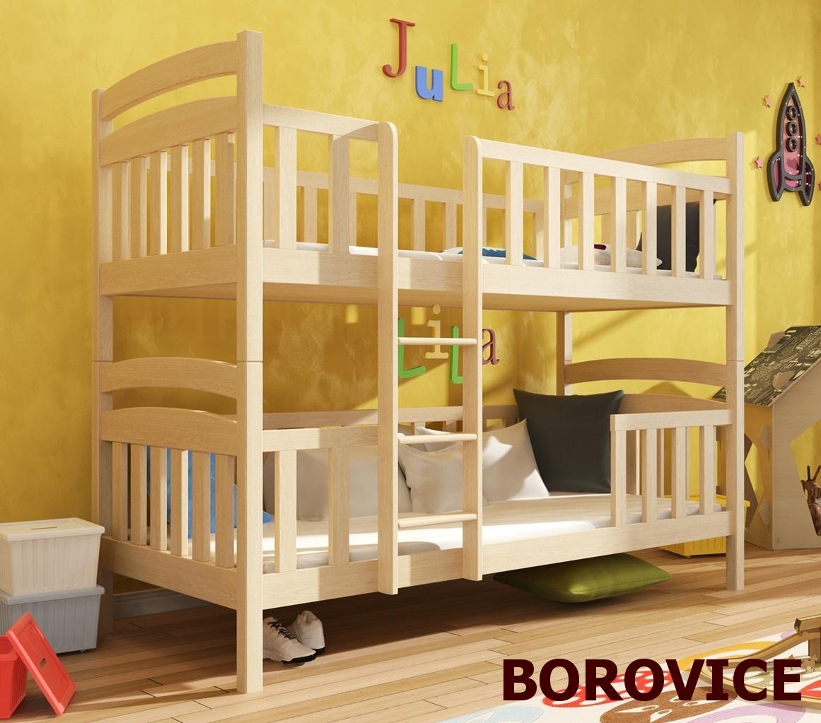 Smartshop Patrová postel FRANKLIN 90x200 cm, masiv borovice/barva:..