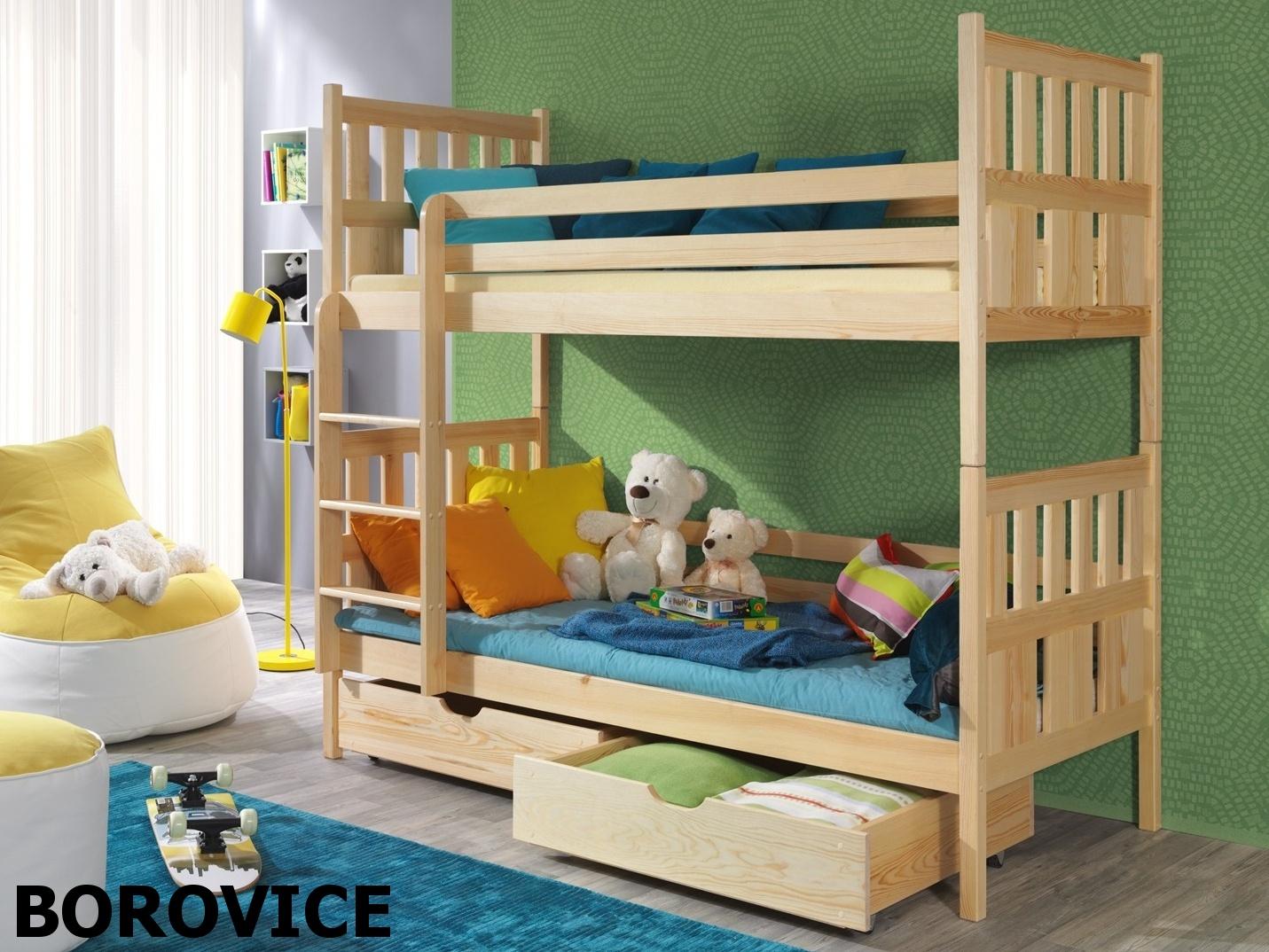 Smartshop Patrová postel LENA 90x200 cm, masiv borovice/barva:..