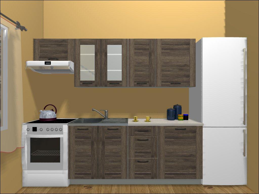 Smartshop Kuchyně REPASO 180/240 cm, dub sanremo