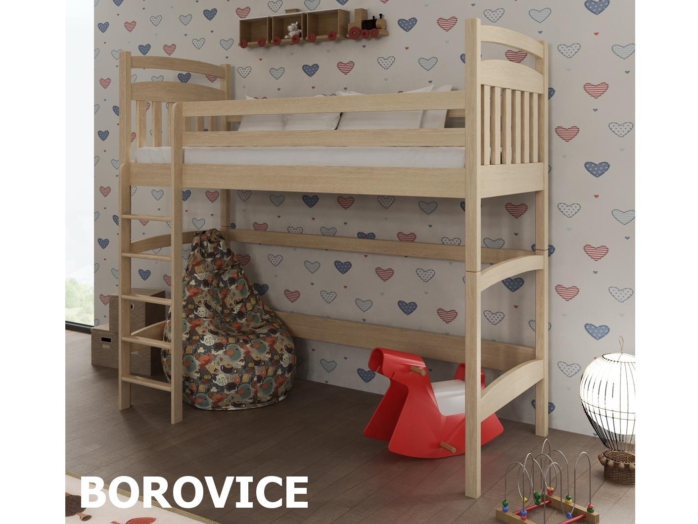 Smartshop Patrová postel TESS 90x200 cm, masiv borovice/barva:..
