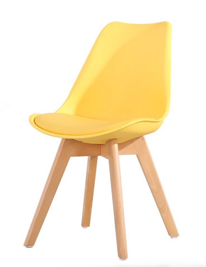 Jídelní židle CROSS, žlutá