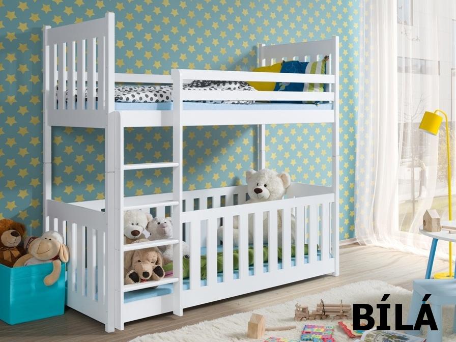 Smartshop Patrová postel CRIS 90x200 cm, masiv borovice/barva:..