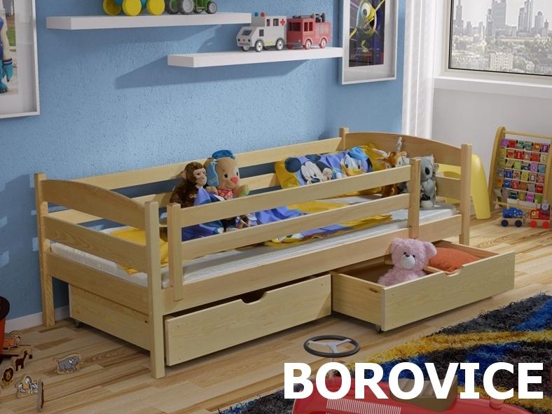 Postel ZOSKA 90x200 cm, masiv borovice/barva:..