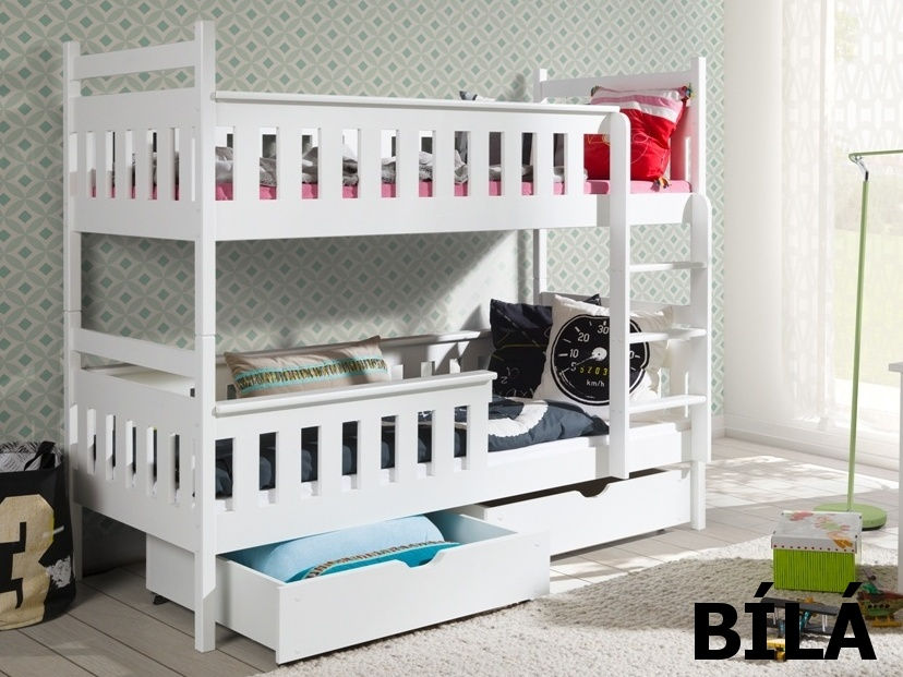 Smartshop Patrová postel TEZO 90x200 cm, masiv borovice/barva:..