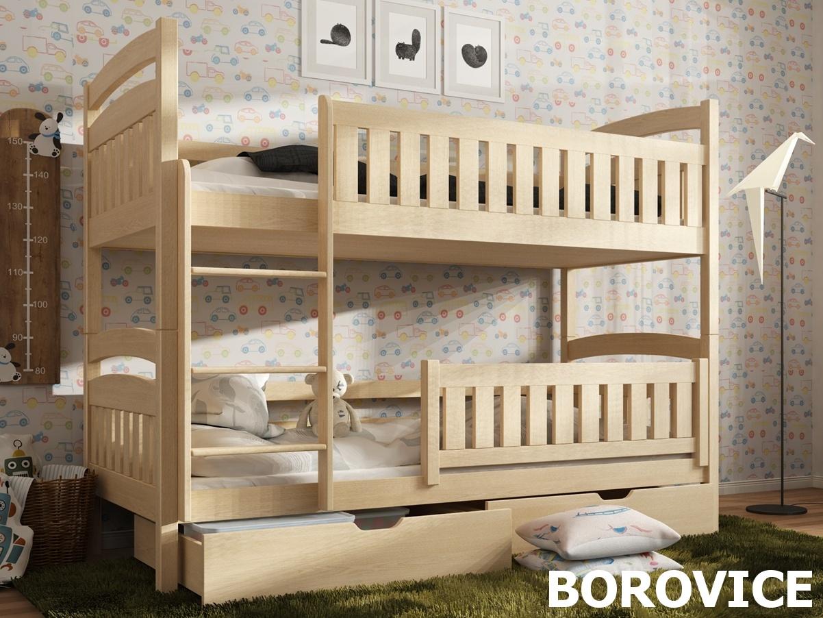 Smartshop Patrová postel IGNAS 90x200 cm, masiv borovice/barva:..