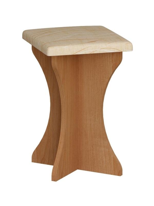 MORAVIA FLAT Čalouněný taburet do kuchyňské sestavy, béžová ekokůže, barva: