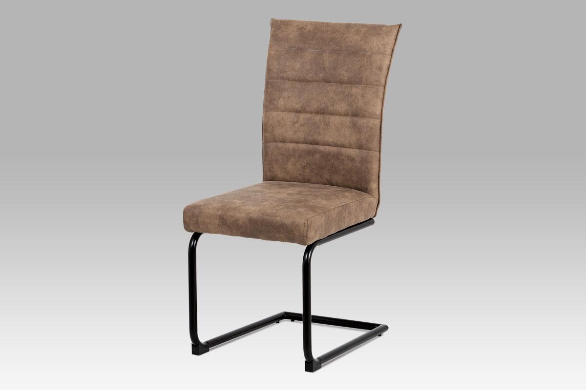 Smartshop Jídelní židle ZDCH-170 BR, hnědá koženka/černý lak