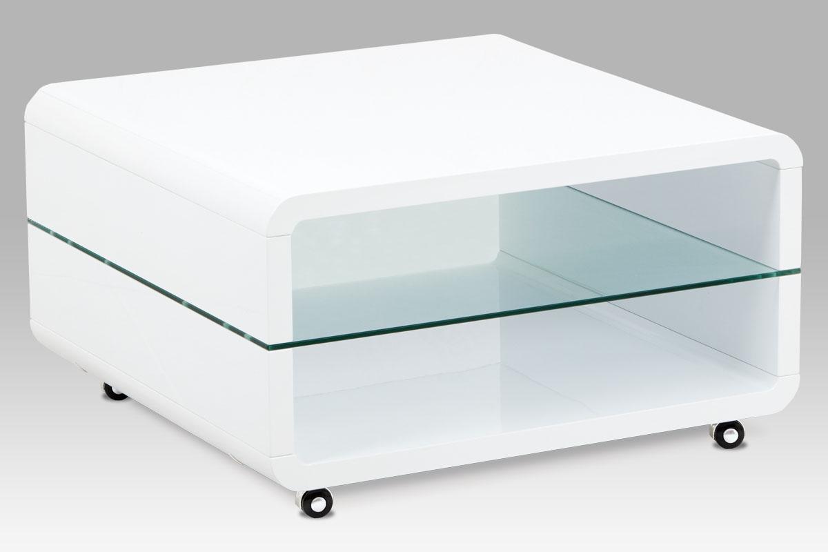 Konferenční stolek AHG-015 WT, bílý lesk
