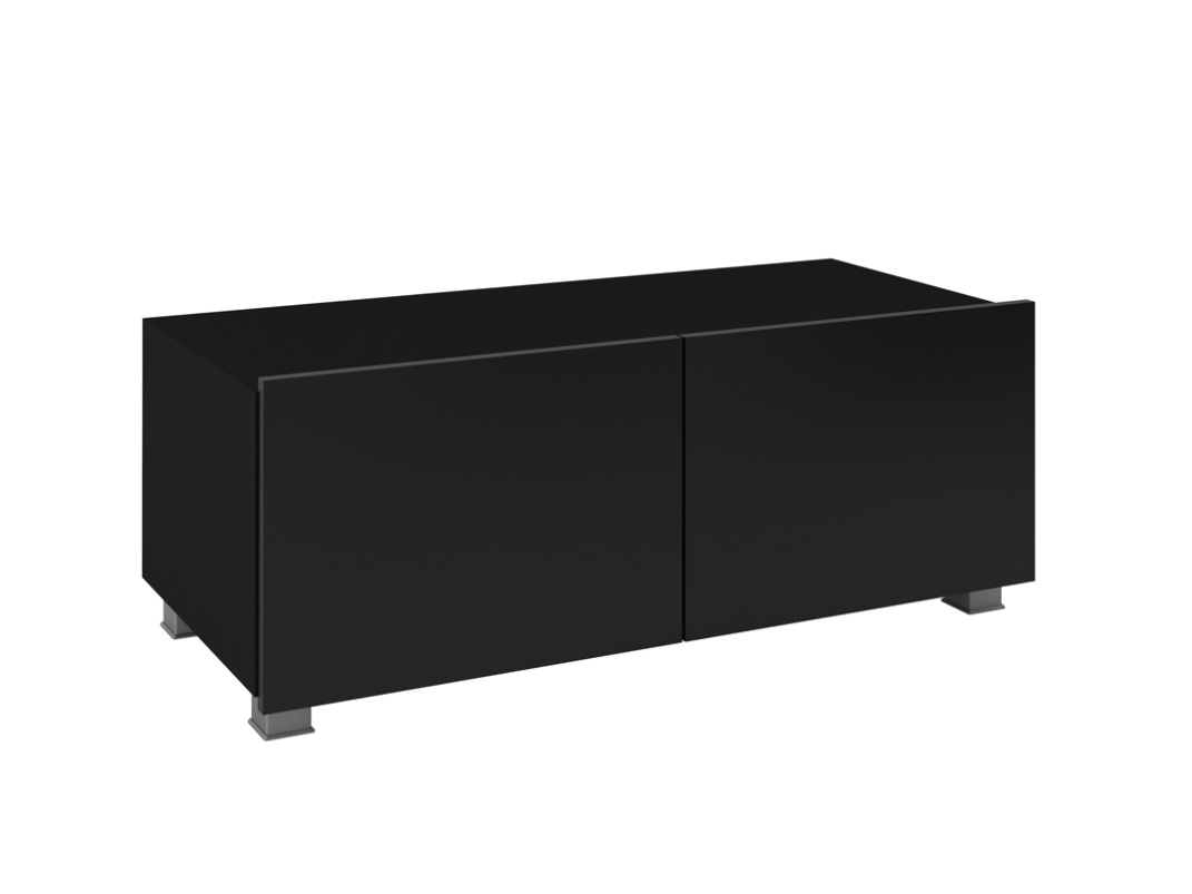Smartshop Televizní stolek RTV 100 CALABRINI, černá/černý lesk