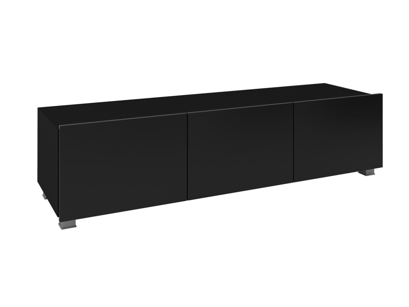 Smartshop Televizní stolek RTV 150 CALABRINI, černá/černý lesk