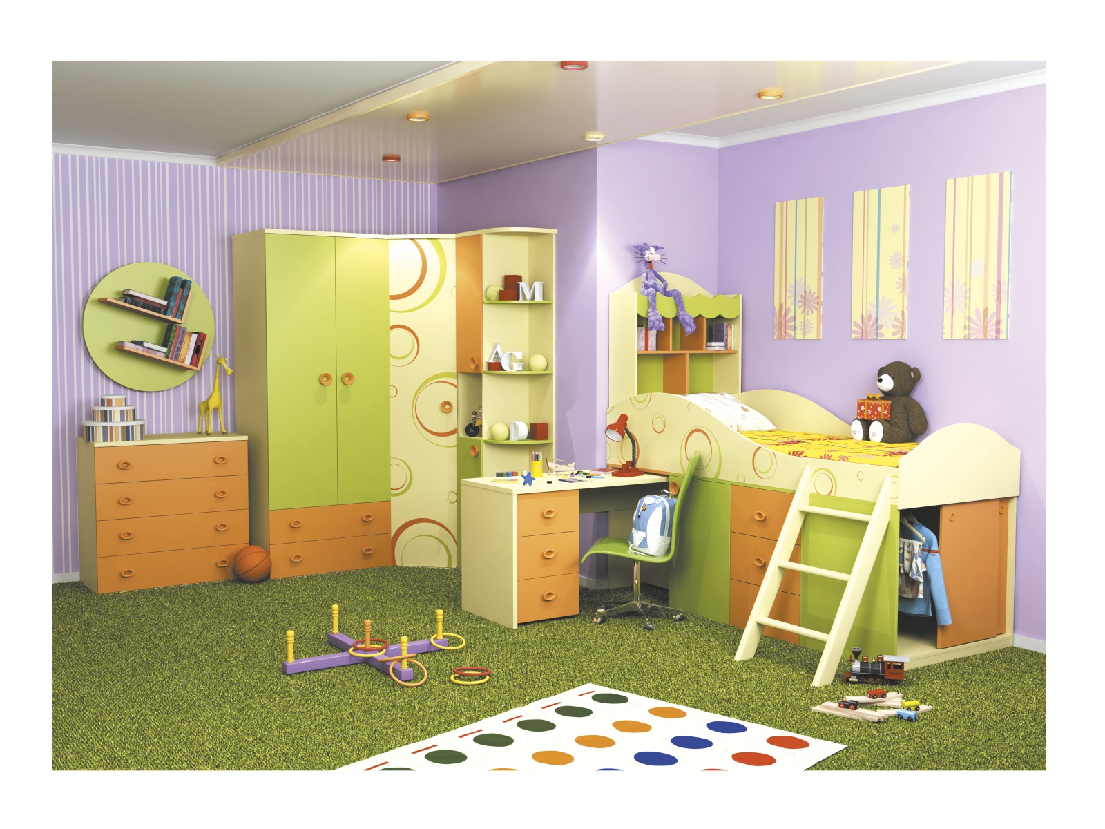 Smartshop Dětský pokoj FRUTTIS, sestava 1