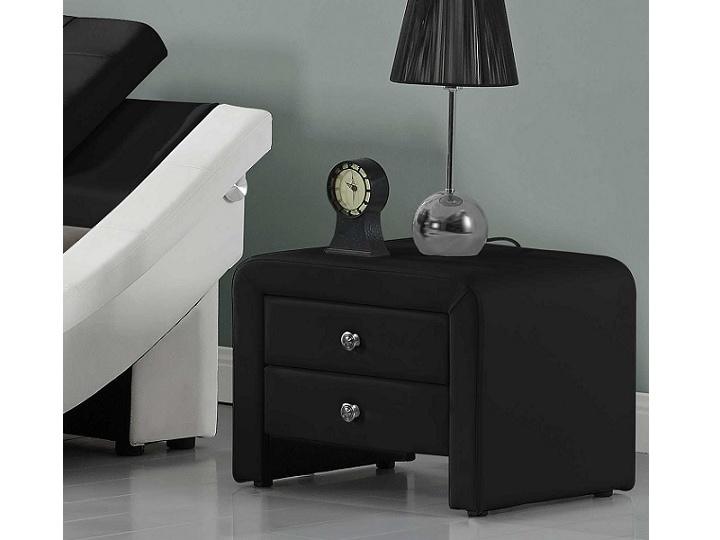 Tempo Kondela WILSON čalouněný noční stolek, černá