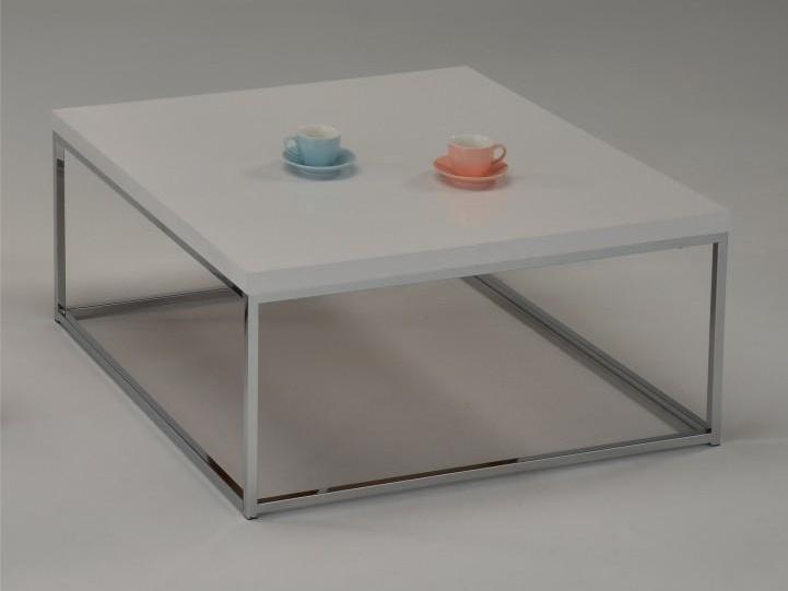 Tempo Kondela NATANEL konferenční stolek, bílý lesk/chrom