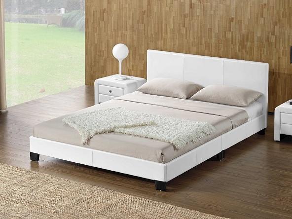 Tempo Kondela DANETA čalouněná postel s roštem 180x200 cm, bílá