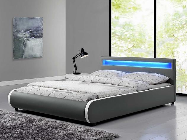 Tempo Kondela DULCEA čalouněná postel s roštem 160x200 cm, šedá