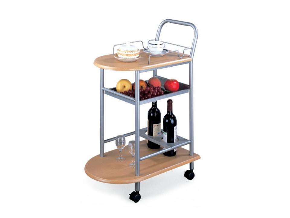 BENGKALIS servírovací stolek, buk/stříbrná