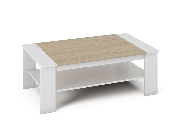 TAYANDU konferenční stolek, bílá/dub sonoma