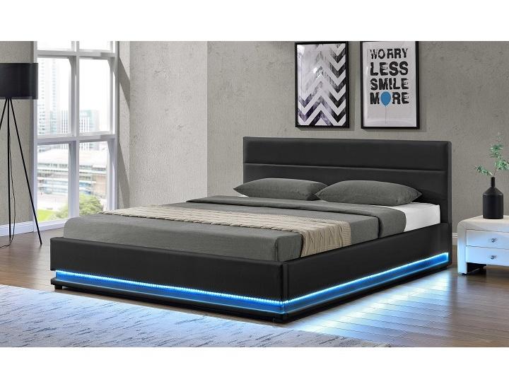 Tempo Kondela BIRGET čalouněná postel s roštem 160x200 cm, černá