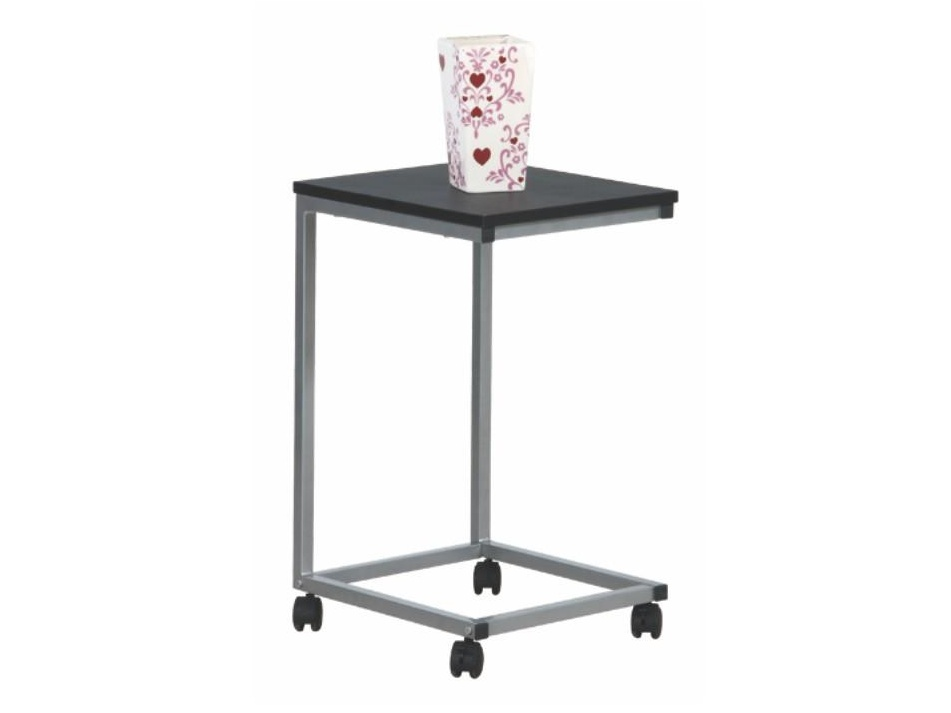 MANNY odkládací stolek, černá/stříbrná