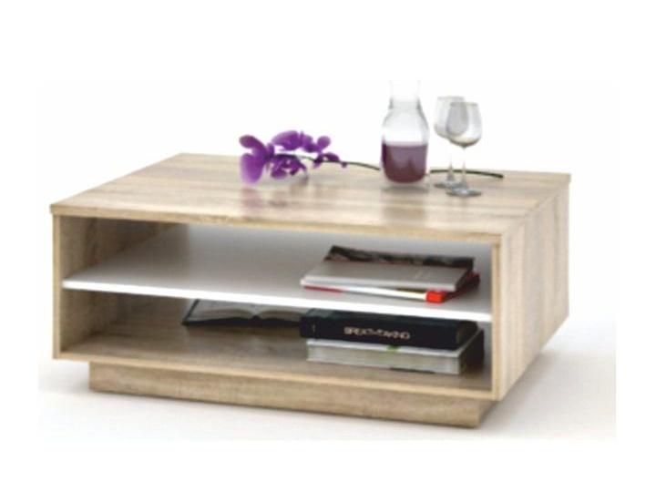 SIRRAH konferenční stolek, dub sonoma/bílá