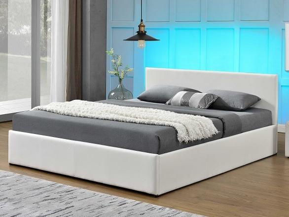 Tempo Kondela JADA čalouněná postel s roštem 160x200 cm, bílá