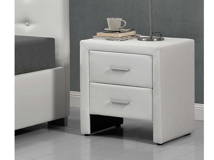 Tempo Kondela CASTEL čalouněný noční stolek, bílá