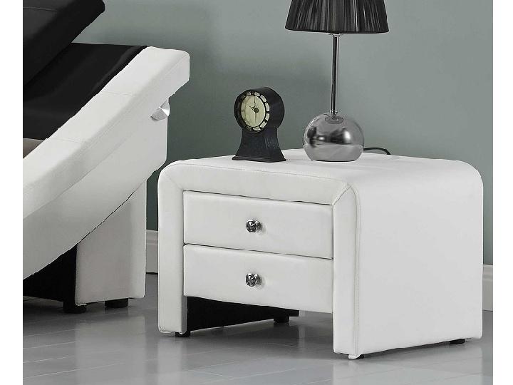 Tempo Kondela WILSON čalouněný noční stolek, bílá