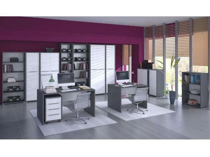 Smartshop RIOMA kancelářská sestava, grafit/bílá