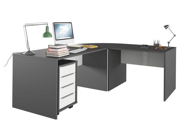 Tempo Kondela RIOMA set psacích stolů, grafit/bílá