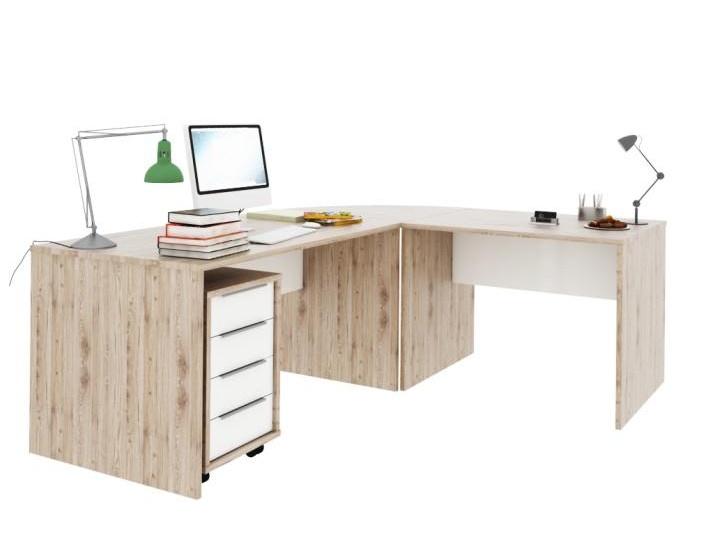 Tempo Kondela RIOMA set psacích stolů, dub san remo/bílá