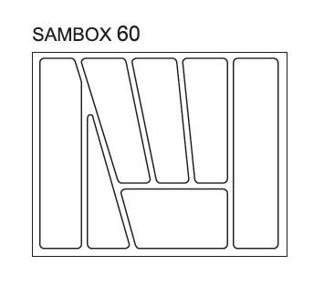 Black Red White Pořadač do zásuvek SAMBOX - 60 cm