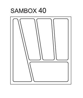 Black Red White Pořadač do zásuvek SAMBOX - 40 cm