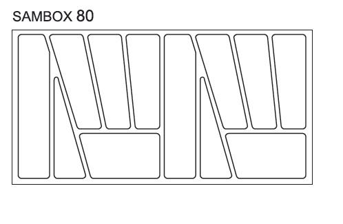 Black Red White Pořadač do zásuvek SAMBOX - 80 cm