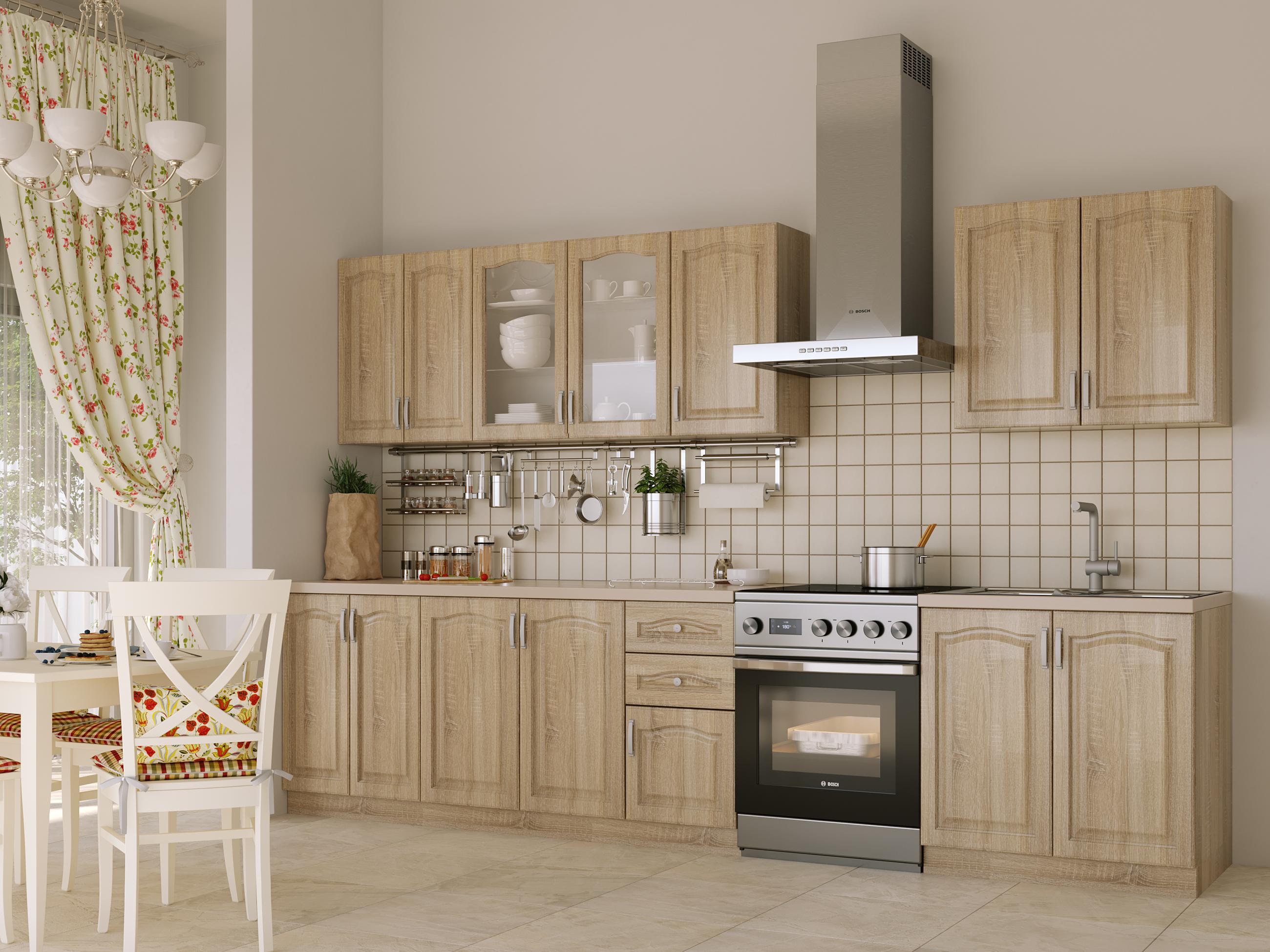 Kuchyně NIKA CLASSIC 260 cm, dub sonoma