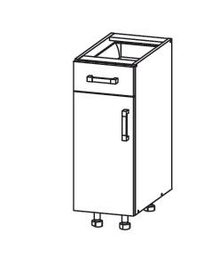 PESEN 2 dolní skříňka D1S 30 SAMBOX levá, korpus šedá grenola, dvířka dub sonoma