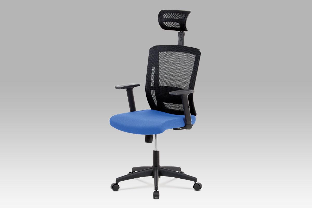 Autronic Kancelářská židle KA-B1076 BLUE, modrá látka