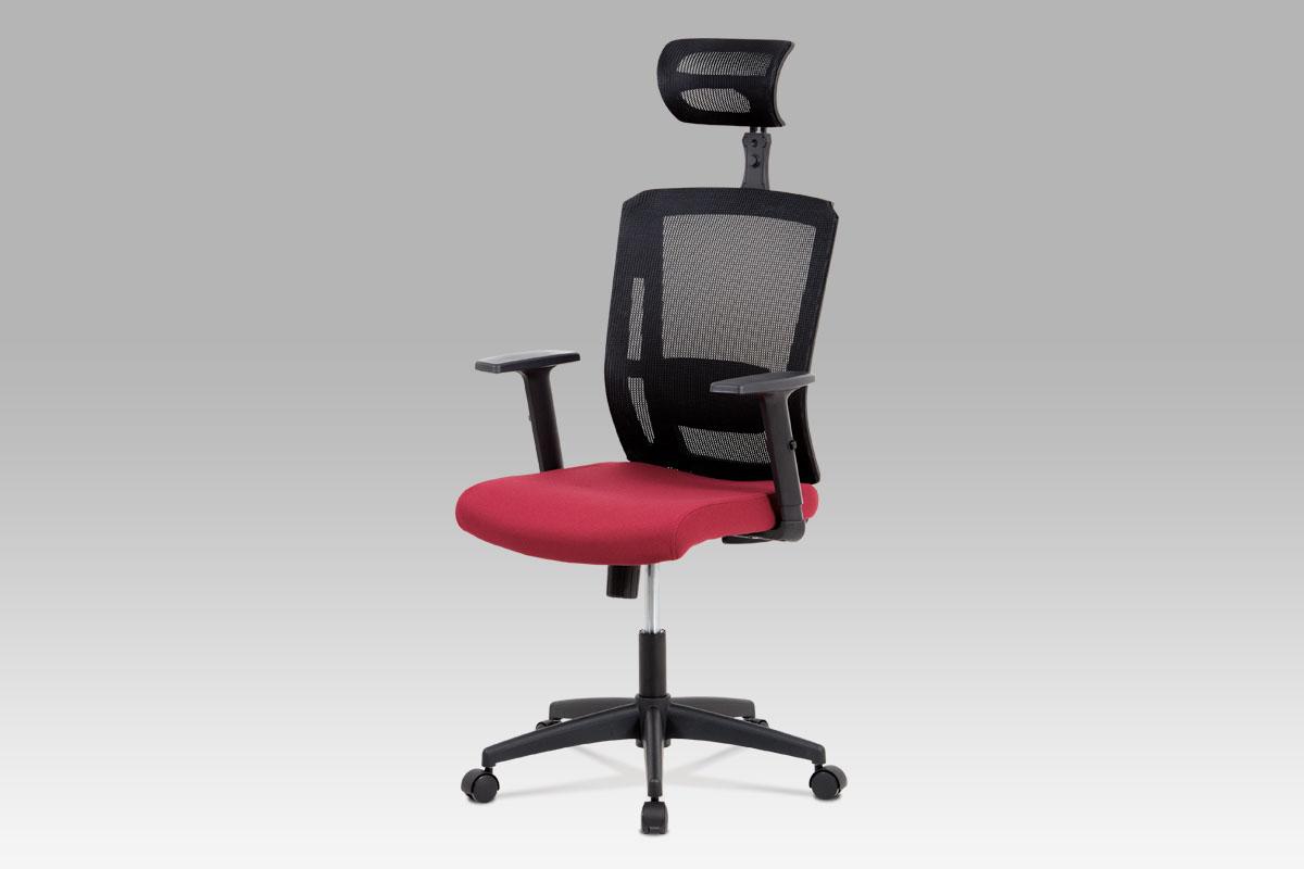 Autronic Kancelářská židle KA-B1076 BOR, bordo látka