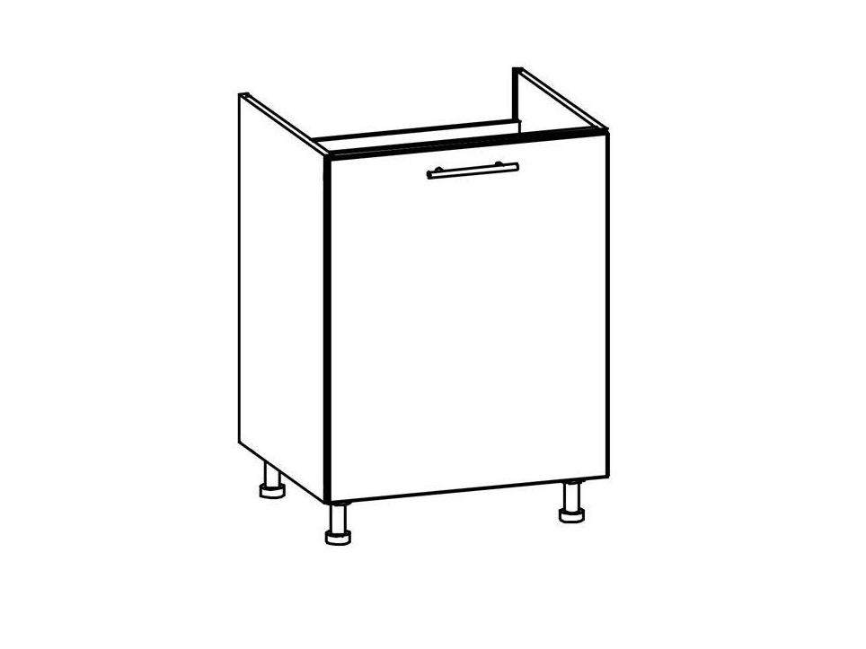 COLBY, dolní dřezová skříňka D60Z, bílý lesk