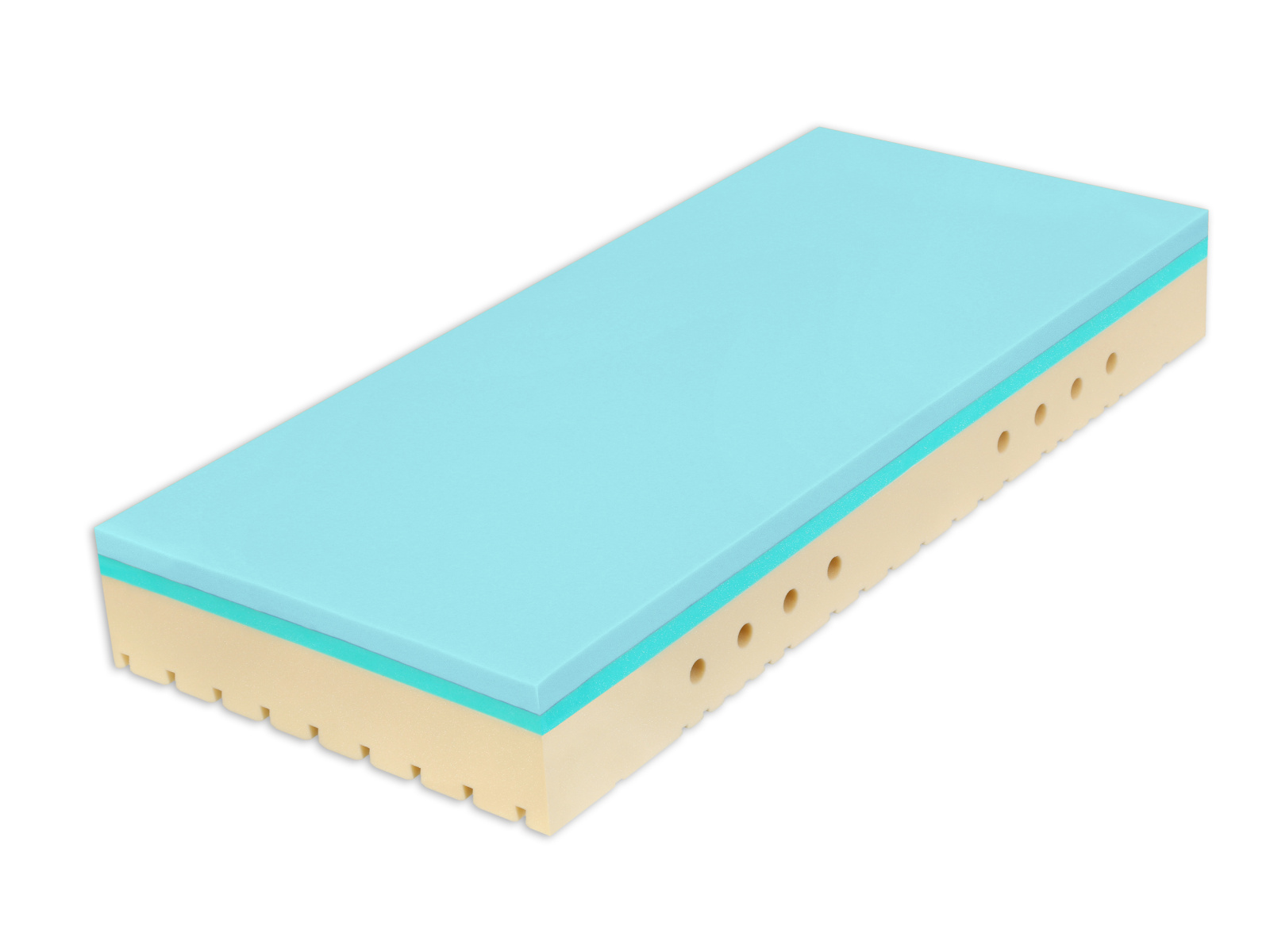 Matrace SUPER FOX BLUE Classic 80x200x20 cm, 1+1 ZDARMA