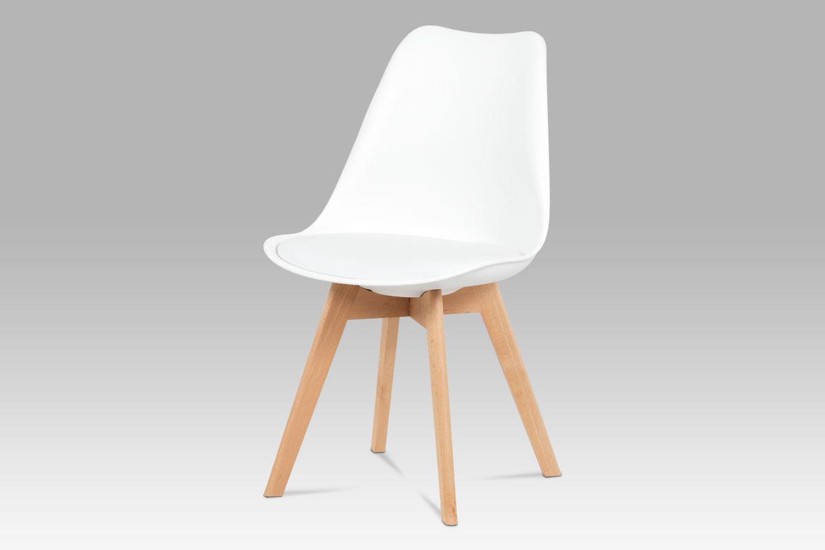 Smartshop Jídelní židle ZCT-752 WT, bílá / masiv buk