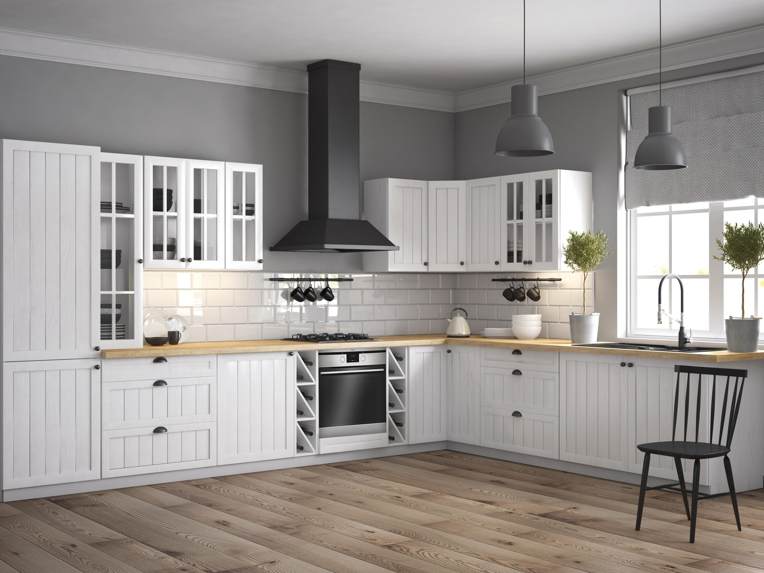 Smartshop Rohová kuchyně PROVANS 550/320 cm, borovice andersen