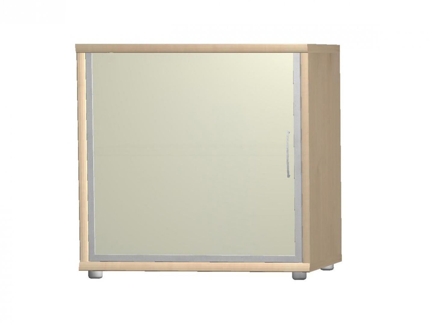 POIND komoda G5, javor/bílé sklo