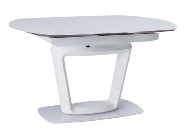 Smartshop Jídelní stůl CLAUDIO rozkládací, bílý