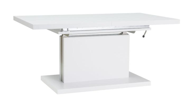 Jídelní/konferenční stůl AMBER rozkládací, bílá